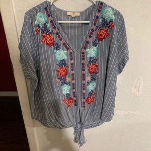Woman's dressy shirts and cardigan